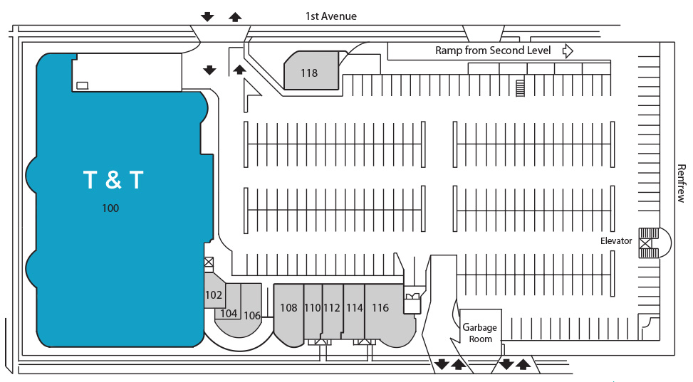 1st Ave Market Place Level 1 Store Map